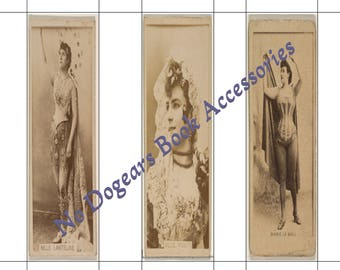 Old Fashioned Models Printable Bookmarks / Printable Bookmarks / DIY Bookmarks / Print at Home Bookmarks