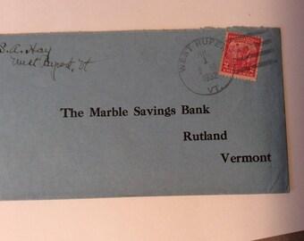 Marble Savings Bank envelope