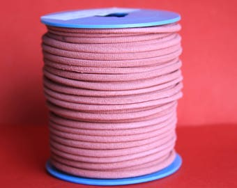 MADE in EUROPE 2 yards of suede cord, 3mm round suede cord (3croare)