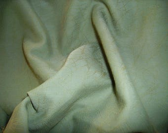 NO. 179 FABRIC COTTON VISCOSE GREEN CONSTABLE'S PATTERNS WOVEN BEIGE