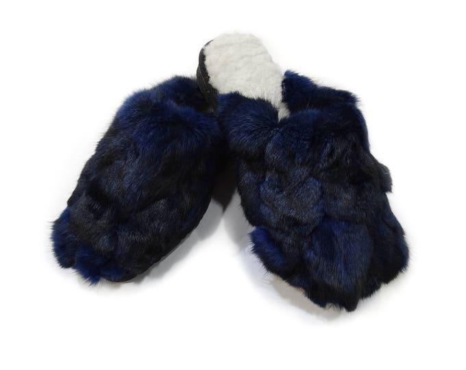 Rabbit Fur Slippers,Fur Slippers F800