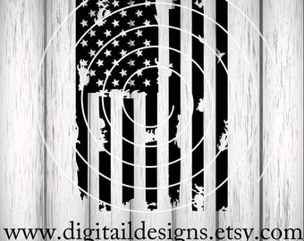 Distressed Flag SVG - America SVG - png - dxf - eps - fcm - ai - Stars and Stripes SVG -  Flag Cut File - Silhouette - Cricut - Scan N Cut