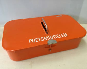 Vintage Brabantia shine box, orange