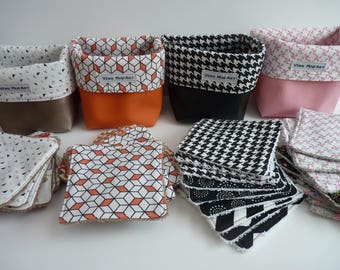 9 wipes washable and reusable basket / sponge/eco-friendly square Remover wipes cleansing and eco-friendly/square
