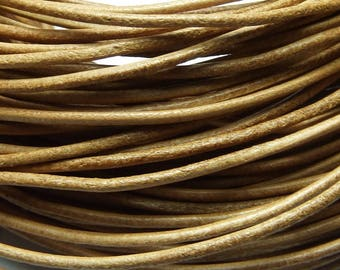 1 m cord leather 1.5 mm natural PR05