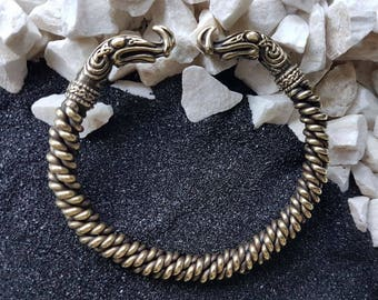 Ragnar Bracelet Braided Bronze Norse Jewelry Bangle Viking arm ring Charm Twisted Torc Vikings Bracelet