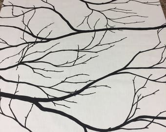 White tablecloth with branches, Bare branches, Bare branches tablecloth, Scandinavian design