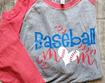 Baseball Mom shirt, softball mom shirt, baseball mom raglan, hey batter batter shirt, baseball raglan, softball raglan, baseball shirt