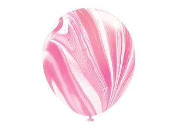 Pink Marble Latex Balloons, Pink & White Marble Balloons, Party Balloons, Wedding Balloons, Party Decorations, Marble Decor, Baby Shower