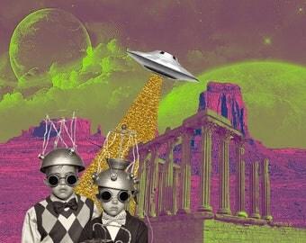 MK Ultra in Technicolor Digital Collage Print