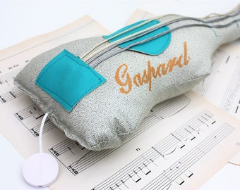 musical plush blue grey