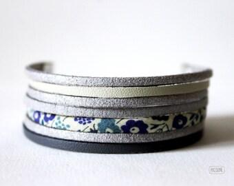 Silver suede ° ° ° Liberty Multi strand bracelet