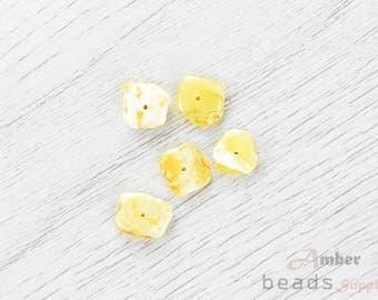 2498/16 // Baltic Amber Beads, 5 pc