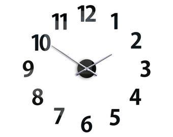 "Large wall clock AMADUS 29,53""x29,53"", Modern wall clock, Big clock"