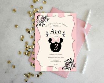 PRINTABLE Birthday Party Invitation | Minnie Mouse