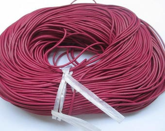 1 meter cherry 2mm leather cord