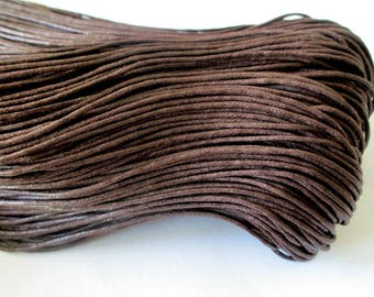 20 meters of thread waxed cotton Brown 1.5 mm