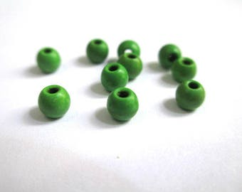 20 green 4mm synthetic turquoise beads