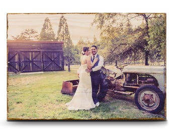 Photo on Wood - Any Size | Custom Wood Print | Wedding Gift | Picture on Wood | Engagement Gift | Pallet | Wood Print | Valentines Day Gift
