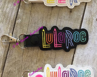 Lu la Embroidered Keychain   Advertise L L R Business   LulaBabies Gift   L L R Keychain   L L R Keyfob