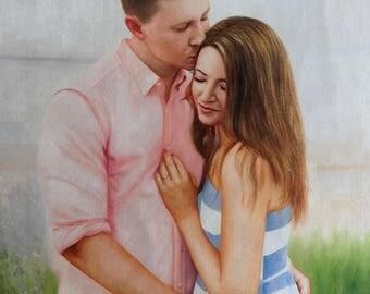 2 Subjects. Custom Portrait. Custom oil Painting. Oil Painting. Family Custom Portrait. Personalized Portrait. Custom Portrait from Photo.