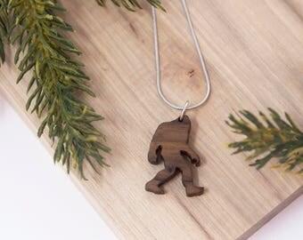Bigfoot Necklace, Sasquatch Necklace, - Yeti, pendent, handmade, camping, outdoor, mythology, PNW, Pacific Northwest, Washington, Oregon