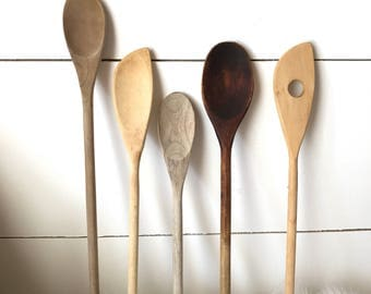 Farmhouse Wood Spoon Set