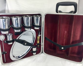 Vintage Ever-Wear EXECUTAIR 707 Luxury Portable Travel Bar Trav-L-Bar COMPLETE