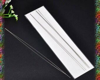 6 needles thread the beads, 12.5 cm