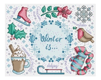 Winter Is Sampler - Durene J Cross Stitch - DJXS2261