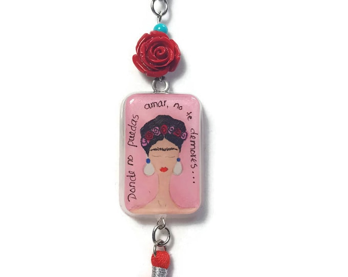 Frida Kahlo necklace Frida Kahlo gifts Frida pendants Frida necklace
