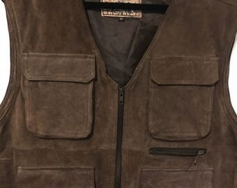 Vintage suede leather Woodsman sz M suede leather vest