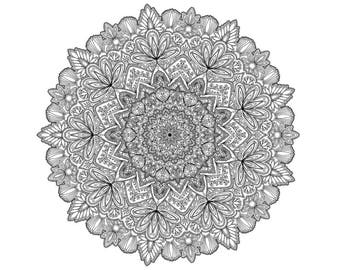 Intricate Mandala Downloadable Colouring Page