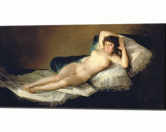 Goya The Naked Maja Canvas Wall Art Print Picture Framed Ready Hang Decor