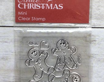 Clear Stamp Christmas Gingerbread People