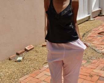 Vintage 1990s Pink Pajama Bottoms Women's Size Medium