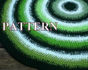 Crochet Rug PATTERN, rug crochet pattern, rug pattern, easy crochet rug, easy tutorial instant download PDF Pattern041 by OlgaAndrewDesigns©