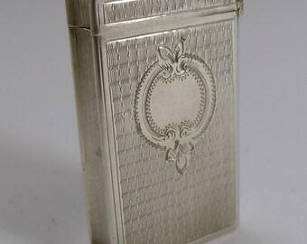Antique French Sterling Silver Match Striker / Vesta - Book c.1900