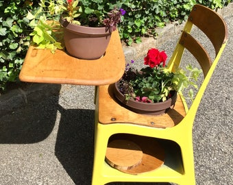 Upcycled authentic nyc elementary school desk garden planter