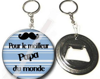 Keychain bottle opener - for the best Dad in the world-personalized gift Message-