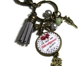 Keychain / bag charm I one caregiver tearing gift