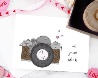 "Camera ""We Just Click"" Valentine's Day Greeting Carf"