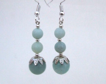 Amazonite Bead Earrings
