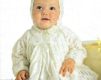 Baby Matinee Jacket and Bonnet