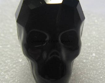 Swarovski Crystal Elements Beads 1Pc 5750 13MM JET BLACK Skull Faceted Bead - Available in a Variety of Colors
