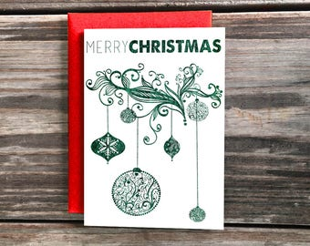 Merry Christmas Card, Happy Holidays Cards