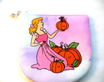 New! pouch with princess made from children's fabric