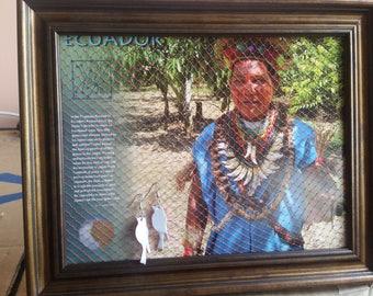 Picture Frame Earring Holder, Ecuador Background