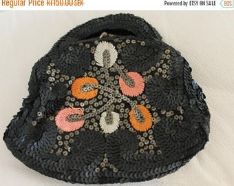 ON SALE Vintage 1930s Sequin Purse Handbag Women, 30s handbag, 30s purse, art deco purse, 1930s bag,