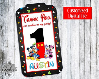 Mickey Mouse Clubhouse Birthday Baby Shower Thank You Tags Printable